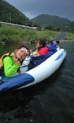 和歌山の日高川・ダッキーで川下り