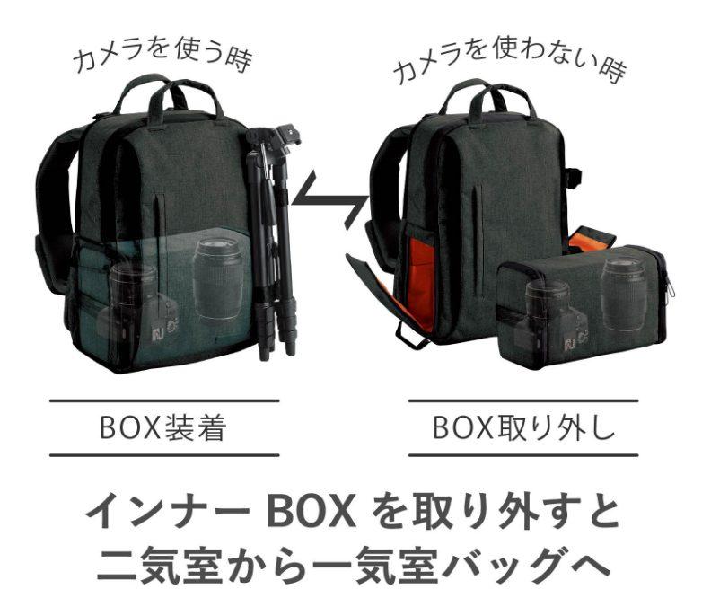 off toco カメラバッグ ちょうど良い使い勝手でお気に入り MacAirがぴったり入るバックパック
